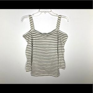 < NWT Lucky Brand Cold-Shoulder Top >